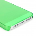 Protective Plastic Back Case for Iphone 5 - Transparent Green