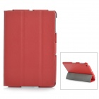 Protective Folding PU Case w/ Stand for Ipad MINI - Red