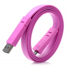 USB Male to Micro USB Male Charging Data Flat Cable - Purple (100cm)