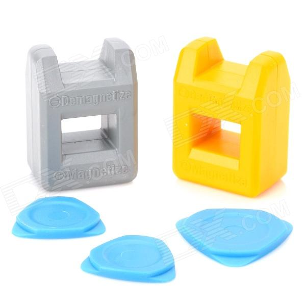 Kaisi 1301 Magnetizer Demagnetizer Repair Tool for Iphone 3 / 4 / 4S / 5 - Yellow + Grey