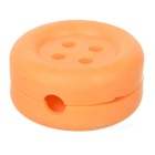 Cute Button Style Earphone Cable Winder Organizer - Yellow