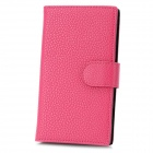 Protective Flip-Open PU Leather Case w/ Card Slot for Nokia Lumia 920 - Deep Pink