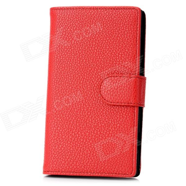 Stylish Protective PU Leather Case for Nokia Lumia 920 - Red аксессуар чехол sony xperia z5 compact brosco transparent z5c tpu transparent