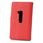 Stylish Protective PU Leather Case for Nokia Lumia 920 - Red
