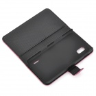 Protective Flip-Open PU Leather Case for LG E960 Nexus 4 - Dark Red