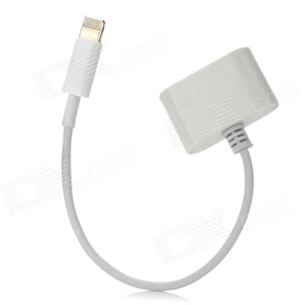 3-in-1 Female Apple 30 Pin / Micro USB / Mini USB to Male 8 Pin Lightning Adapter Cable - White