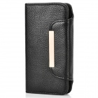 Protective PU Leather Magnetic Flip Open Case for Iphone 5 - Black