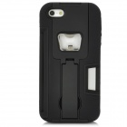 Protective Back Case w/ Bottle Opener / Stand Bracket for Iphone 5 - Black