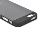 IPSKY Protective PC + Aluminum Alloy Back Case for IPHONE 5/5S - Black