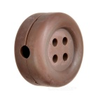 Cute Button Style Earphone Cable Winder Organizer - Brown