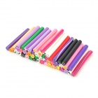 DIY Smile Face Pattern Polymer Clay Canes Nail Art Decoration Stickers - Multicolored (50 PCS)