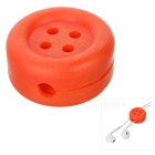 Cute Button Style Earphone Cable Winder Organizer - Red
