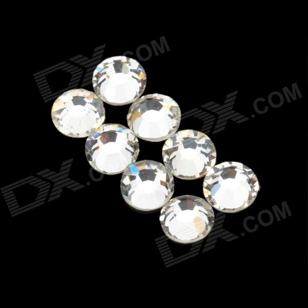 SS08# Decoration Crystal Rhinestones Nail Stickers - White (10 PCS / 2.3mm)