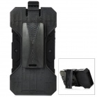 Protective Detachable Silicone + Plastic Case w/ Clip for Iphone 5 - Black