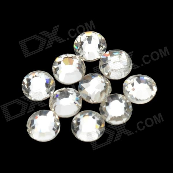 SS06# Decoration Crystal Rhinestones Nail Stickers - White (10 PCS / 1.8mm)