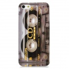 Protective Audio Tape Pattern Plastic Case for Iphone 5 - Grey + Black + White