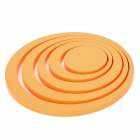 Creative Circular Rings Stereo Wall Sticker - Orange (5 PCS)