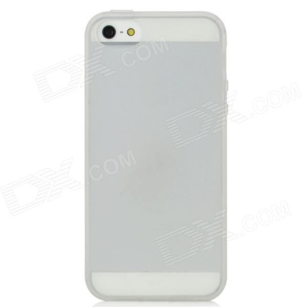 Protective Silicone Back Case for Iphone 5 - Translucent