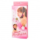 Eliminating Dual Chin Sleeping Beauty Slimming Face Band - Black + Pink