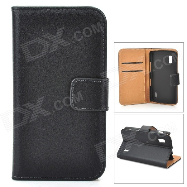 Protective Flip-Open PU Leather Case w/ Card Slot for LG E 960 Nexus 4 - Black protective flip open pu leather case w card slot for lg e960 nexus 4 white