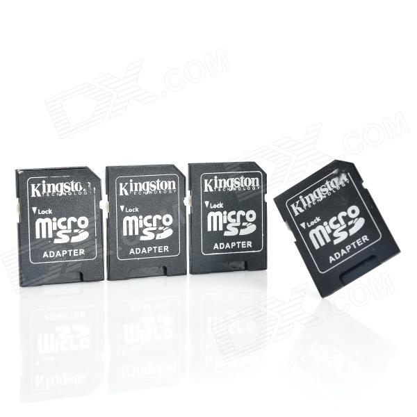 MicroSD/TF to SD/SDHC Card Adapter w/ Protective Case - Black (4PCS)