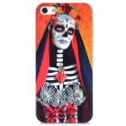 Schutz Pirate Skeleton Pattern PC Case für iPhone 5 - Orange + Schwarz + Weiß + Rot