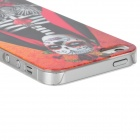 Protective Pirate Skeleton Pattern PC Case for Iphone 5 - Orange + Black + White + Red
