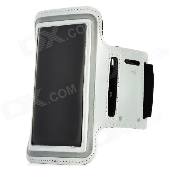 Sporting Outdoor Neoprene + Sponge Armband for Iphone 5 - Silver Grey + Black