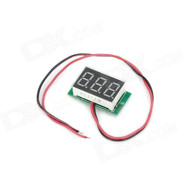 0.36 3-Digit Blue Light 7-Segment Voltmeter Module - Black + Green (3.2~30V) 0 36 3 digit blue light 7 segment voltmeter module black green 3 2 30v