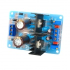 LM317 / LM337 2-Channel Adjustable Voltage Regulator Power Supply Module - Blue + Black