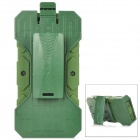 Protective Detachable Silicone + Plastic Case w/ Clip for iPhone 5 - Army Green