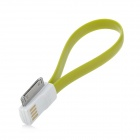 USB to 30-Pin Charging / Data Magnetic Cable for iPhone 4 / 4S / 3GS - Yellow Green (22.4cm)