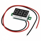 "V20D 0.36"" LED Two Line 3-Digital Direct-Current Voltmeter Meter Module - White + Green (DC 2.5~30V)"