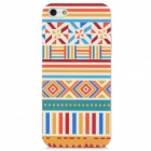 Protective Traditional Pattern PC Case for Iphone 5 - Red + White + Blue