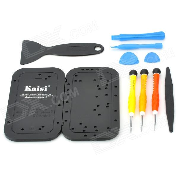 Kaisi 3689 Cell Phone Disassemble Repair Tools Kit for IPHONE 5 - Blue + Red + Orange + Yellow