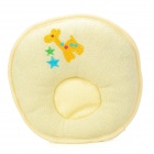 Deer Pattern Soft Pure Cotton Baby Shaping Pillow - Light Yellow