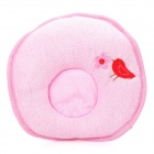 Bird Pattern Soft Pure Cotton Baby Shaping Pillow - Pink