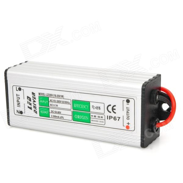 IP67 Waterproof 25W External Power Supply Driver - Silver