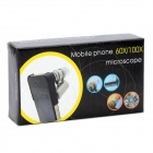 2-in-1 Protective Plastic Back Case + 60x Zoom Microscope w/ 3-LED for iPhone 5 - Black + Silver