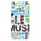 Protective Music Element Back PC Case for Iphone 5 - Green + Blue + White + Black