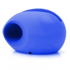 Egg Shaped Silicone Stand Audio Amplifier for Iphone 5 - Dark Blue
