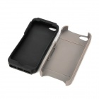 Cool Protective Plastic Back Case w/ Stand for iPhone 5 - Grey + Black