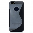 S Pattern Protective Plastic Back Case for Iphone 5 - Black + Translucent