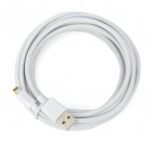 USB to 8-Pin Lightning Data / Charging Cable for iPhone 5 / iPad Mini / iPad 4 - White (4m)