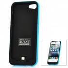 Rechargeable 2300mAh Emergency Battery Pack Charger w/ USB Cable for iPhone 5 - Blue + Black