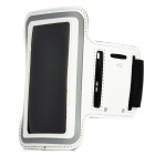 Sporting Outdoor Neoprene + Sponge Armband for Iphone 4 / 4S - White
