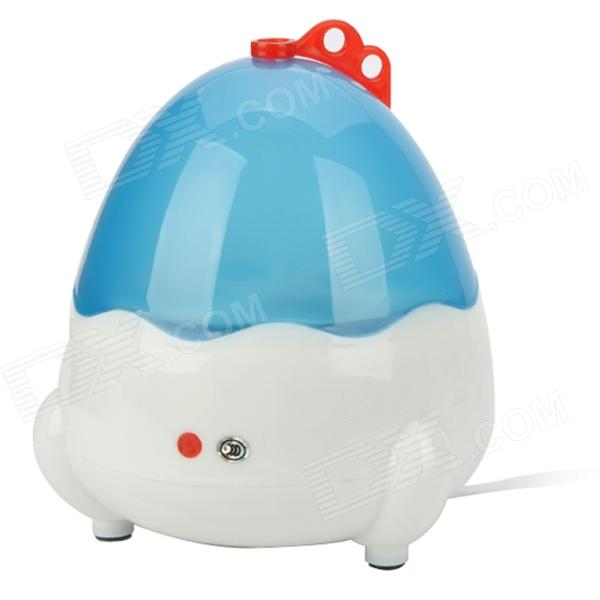 Qiqu 310 Mini Automatic 4-Egg Boiler - White + Blue (220V / 2-Flat-Pin Plug / 66cm-Cable) 1 piece lowest price full automatic digital display poultry egg incubator mini 48 chicken eggs hatching machine