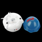 Qiqu 310 Mini Automatic 4-Egg Boiler - White + Blue (220V / 2-Flat-Pin Plug / 66cm-Cable)