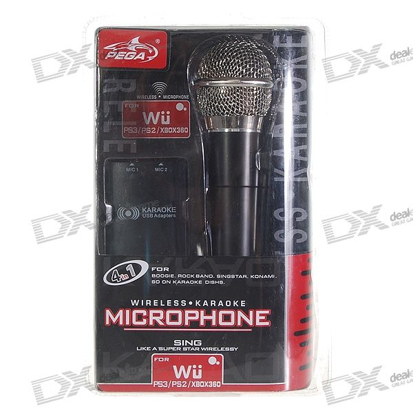 PEGA Wireless USB Karaoke Microphone Set for Wii/PS3/PS2/Xbox 360