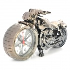 Cool Motorcycle Shape Quartz Movement Alarm Clock - Silver Gray (1 x AA)